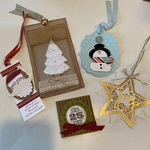 Hand made Christmas tags 🎄